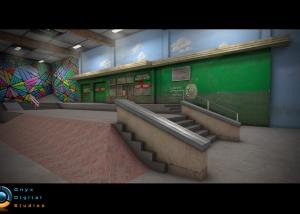 Skater on IOS - Berrics recreation