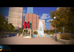 Skater on IOS - Love Park recreation