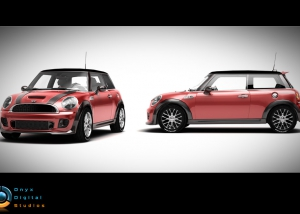 Mini Cooper created for facebook game