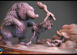 Sculpt based on an original concept by Frank Frazetta