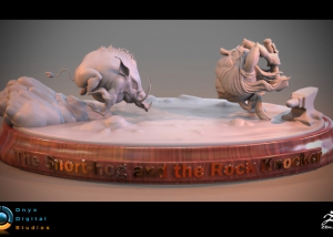 Snort-Hog and the RockKnocker - Sculpt based on an original concept by rodney matthews