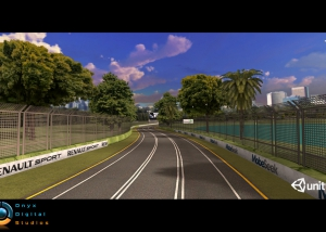 Australian GP track created for ios game and demoed at the GP in 2012