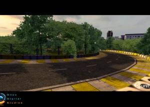 Environment for a facebook racing game, created in Unity