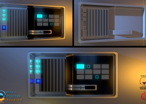 SciFi style control panel based off a concept by Robert Simons for enders game.