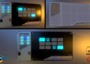 control panel based off a concept by Robert Simons for enders game.