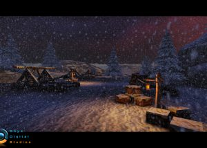 Snowy Mountain stage for an ios rpg