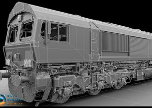 Class 66 locomotive created for a train simulation