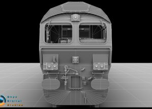 Class 66 locomotive created for a train simulation